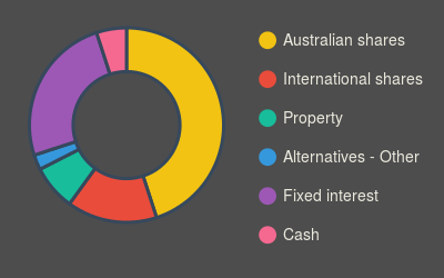 FS asset allocation (pie chart)